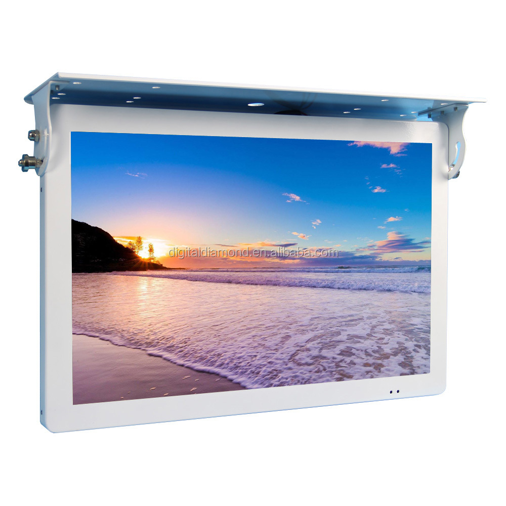 China manufacturer 22 inch LCD screen bus TV/ DVD player for advertising