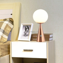5W fashionable dimmer led table lamp,glass ball design reading table lamp