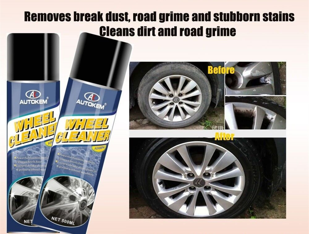 Car Wheel Rim Cleaner Aerosol Spray car care products free sample