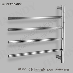Stainless Steel Heated Extendable Towel Rack, Electric Radiator