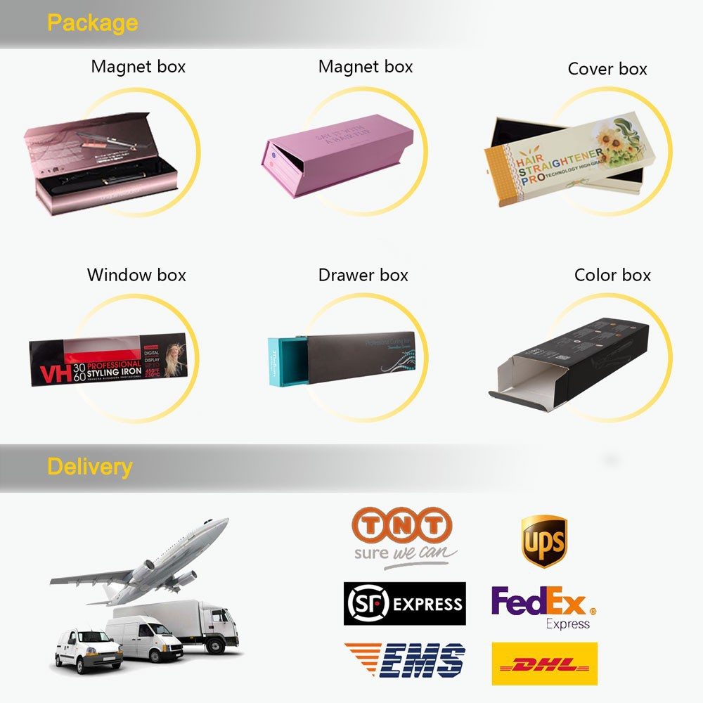 2019 customized 1inch ceramic or nano titanium plate  LCD hair straightener with nanintertek MCH heater