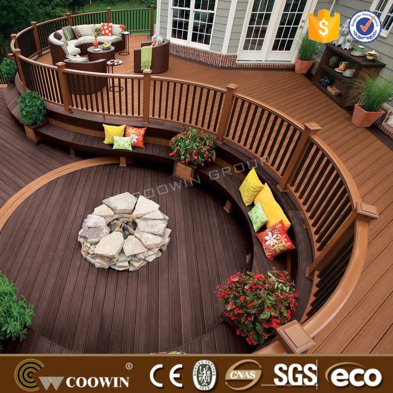 Polymer wood plastic composite deck floor buy plastic for Polymer decking