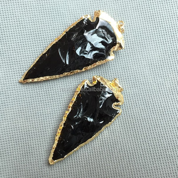 Mu150911223 black obsidian arrowhead pendantgold plated gemstone mu150911223 black obsidian arrowhead pendant gold plated gemstone arrow head pendant aloadofball Image collections