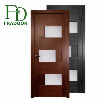 Guangzhou Factory Price Decorative Glass Doors Interior Flush Door