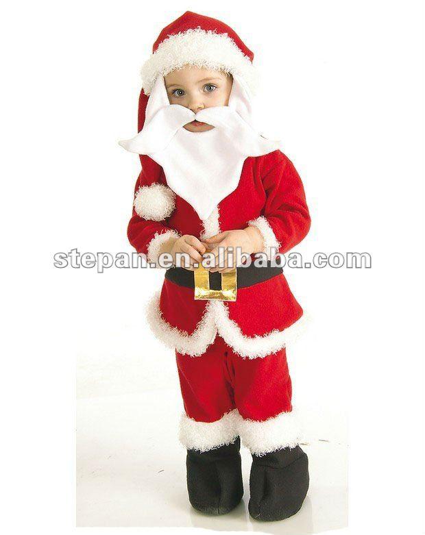 Tz 62219 ni o traje de santa claus otros trajes - Disfraz de santa claus para nino ...