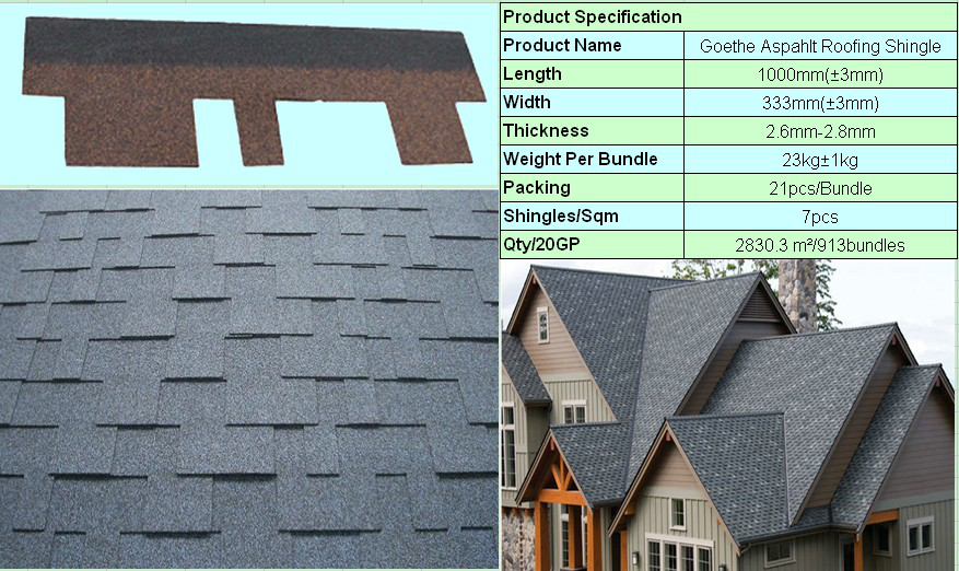 Blue Red Roofing Shingle Iko Kenya Bitumen Asphalt Roofing