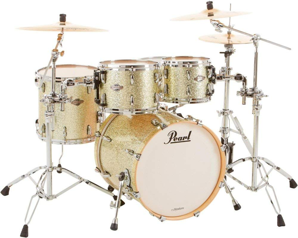 "Pearl BCX 4-Piece Birch Shell Pack with 20"" Bass Drum Silver Glitter"