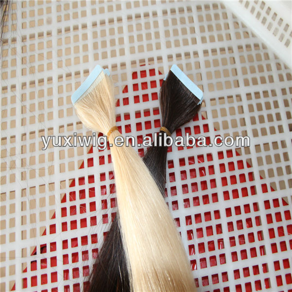 blue tape hair extensions super strong adhesive no shedding