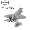 F35 Fighter model 3D puzzle DIY metalic plane model jigsaw free shipping best birthday gift for