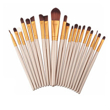 Wholesale 20pcs Set Cosmetic Eye Brow Liner Shadow Makeup Brush Set, custom logo makeup brushes for eyes makeup
