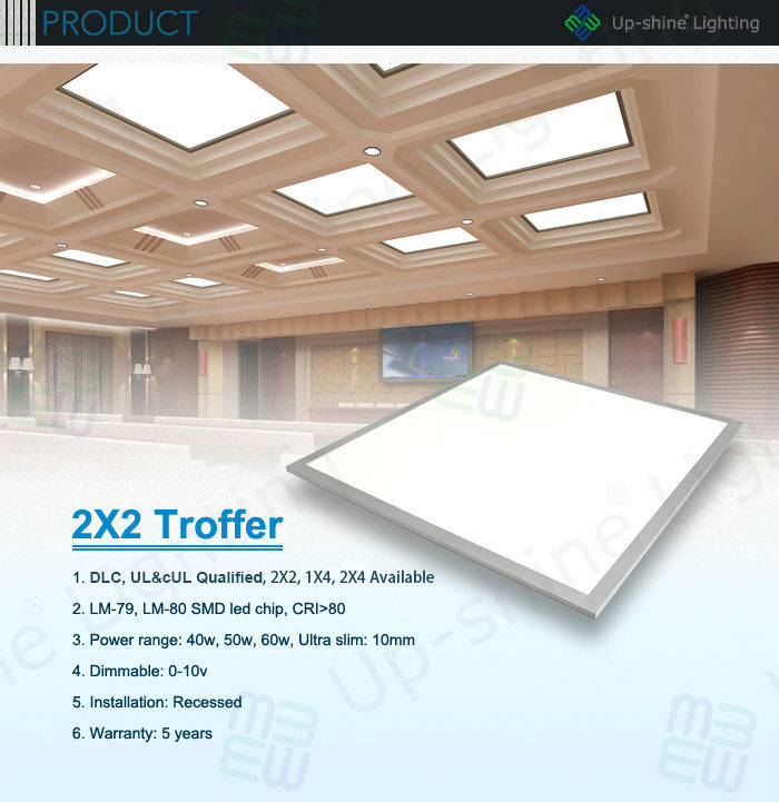 Ul Dlc Approved 50w 0 10v Dimming Recessed 2x2 Led Drop