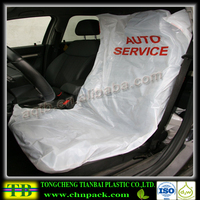 factory direct disposable car seat cover with one color printing and two pockets