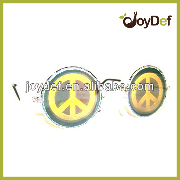 Peace sign hologram sunglasses 3D cool new glasses eye