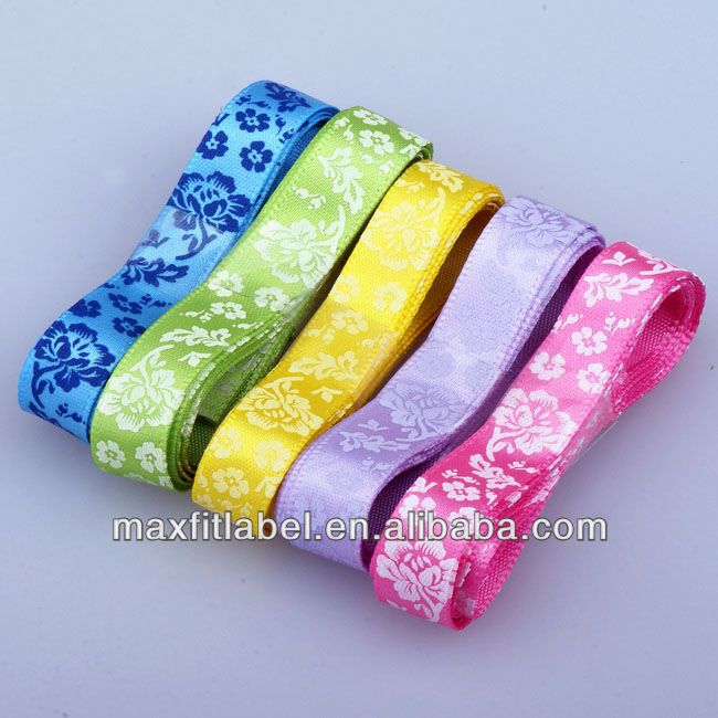 Custom high quality satin ribbon for gift decoration