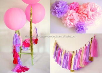 Complete Party Decoration Kit Rapunzel Tangled Themed Party 2 Giant 36 Balloons With Tassels 10 Pom Poms Tassel Garland Buy Rapunzel Tangled