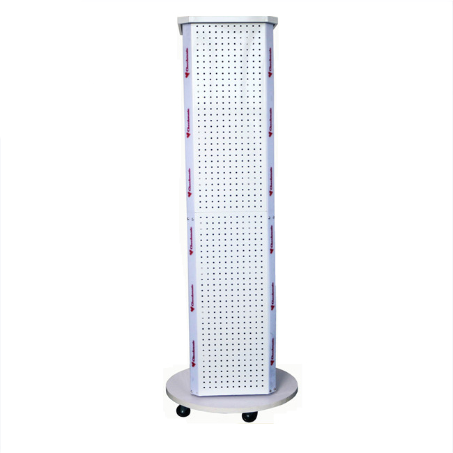 Rotatable Three-sides Pegboard Display Rack Stand