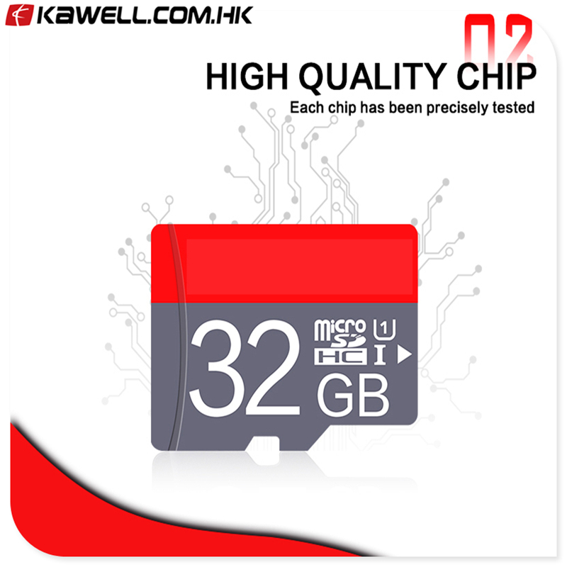 2018 red Flash Memory card 8gb 16gb 32gb 64gb 128gb microsd TF card with free adapter
