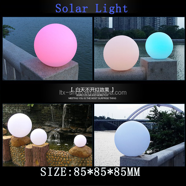 Round Shape Charging Glowing Mood Light LED Ball/ Led Atmosphere Solar Lights