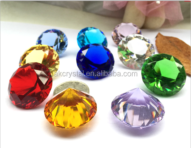 Best sales wedding favors multi color octagonal decorative crystal diamond glass