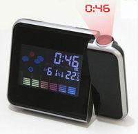 CT-108 Digital LCD LED Projector Alarm Clock Weather Station clock
