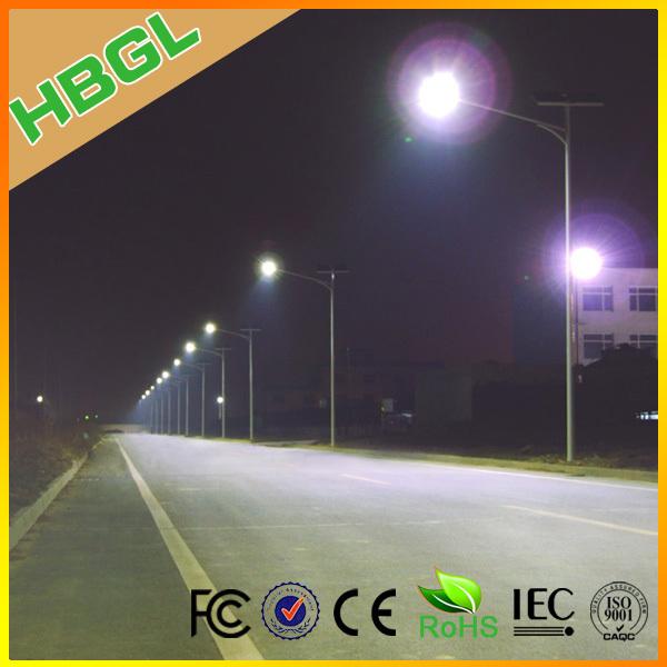 30w 12 Volt Led Street Light Fixtures With Solar Panel Gel Battery ...