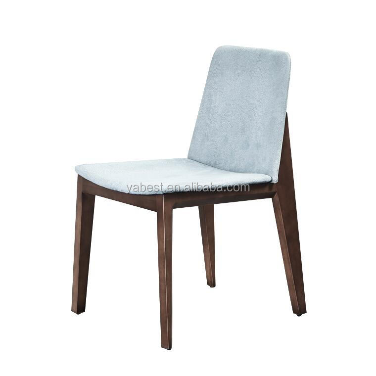 solid wood base fabric cover dining chair
