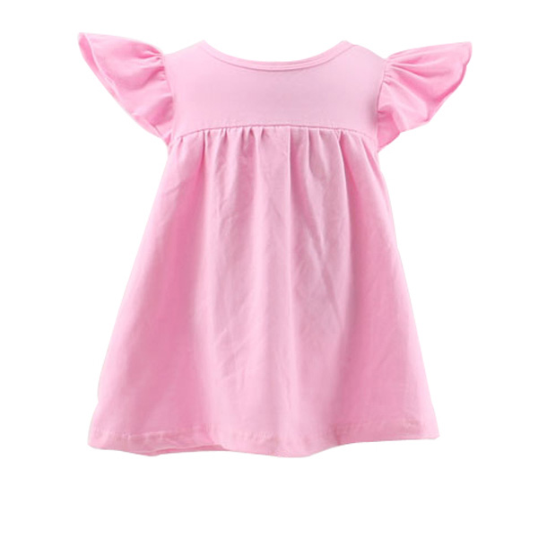 2017 Hot sale new design china baby dress pink lovely cotton knit baby skirt top