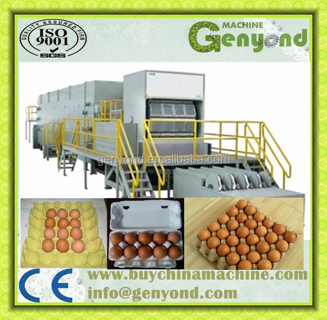 waste paper recycle used egg tray machine/automatic paper pulp egg tray production line/small machine making egg tray