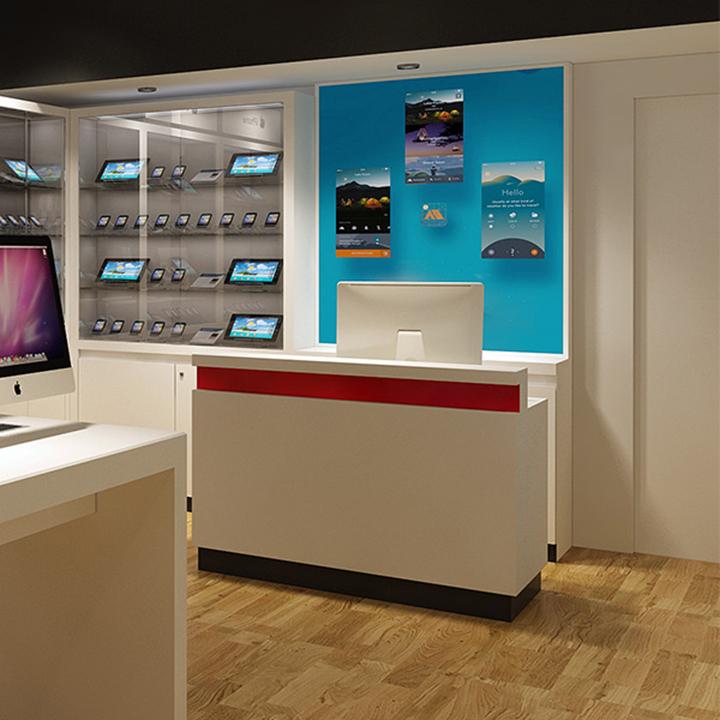 Retail Store Furniture Counter Cashier Design For Sale