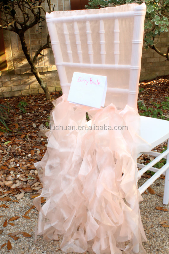 Custom Made Wholesale Multiple Color Tulle Wedding Banquet Chair ...
