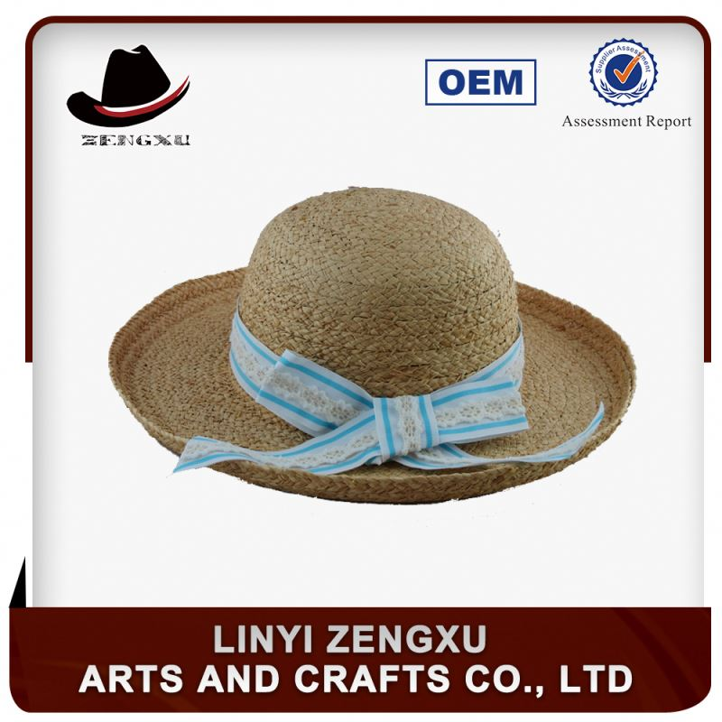 Large straw hat factory supply crochet paper custom made cowboy straw hat for summer