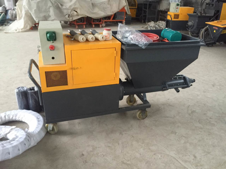 Subway fireproof material mortar pump spraying machine in the tunnel factory