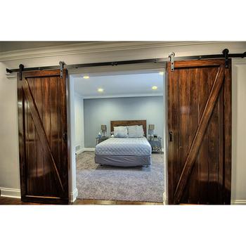 Antiguo maciza tallada elegante puerta de granero de for Puerta de madera doble estilo antiguo