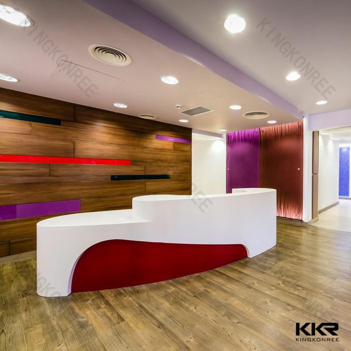 Modern Hotel Lobby Furniture, Beautiful Solid Surface Reception Desk