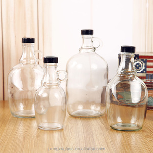 USA California clear empty big capacity 1 liter 2 liter 3 liter wine glass bottle with cap