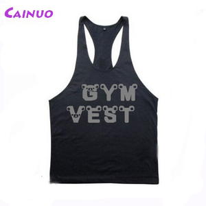 Custom gym vest tank tops for men bodybuilding singlet