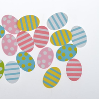 18pcs Adhesive Wooden eggs Stickers Scrapbooking Easter Decor Floral stickers Garden ornament Home decor Birthday Party decor