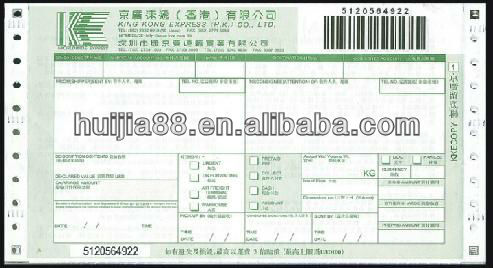 perfect courier waybill triplicate receipt printing