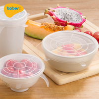 Reusable Heat Resistant Expandable Silicone Food Hugger Food Lid Cover Hugger For Food Fresh Keeping