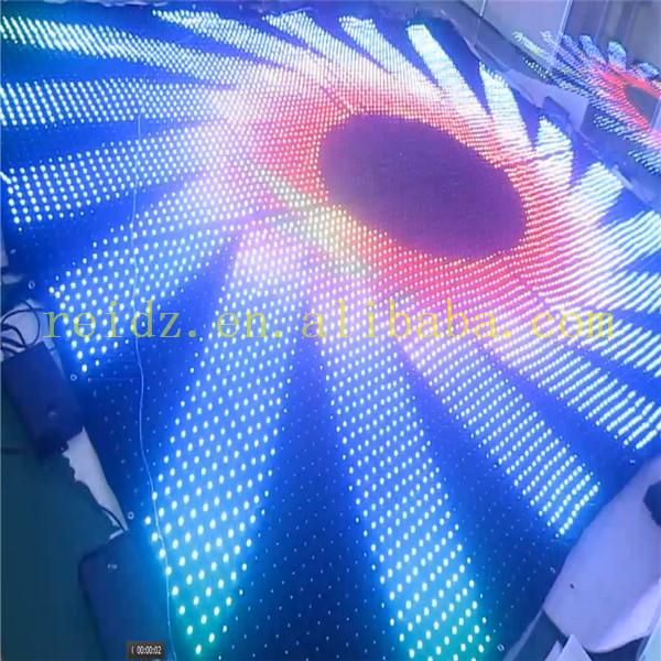Hot Sale Stage/club/bar/dj Led Fabric Curtain Display Video/text ...