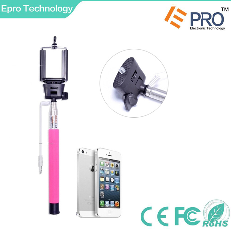 wholesale colorful cable take pole selfie stick with cable for iphone and and. Black Bedroom Furniture Sets. Home Design Ideas