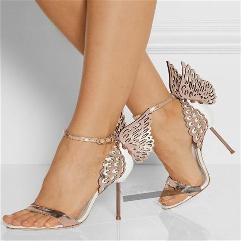Sandals Brand New Sexy Open Toe High Heels Butterfly Wing