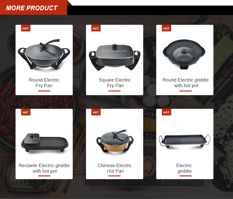 Realbei AL-6022 special design widely used electric hot industrial electric frying pan
