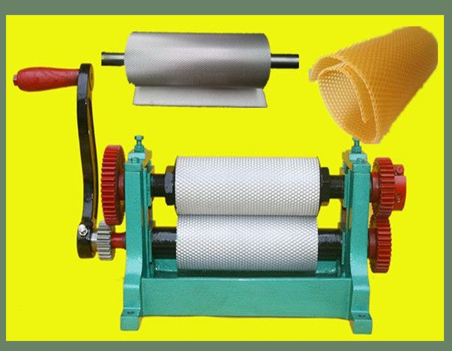 China Factory Beeswax Sheet Making Machine Foundation Roller or Bees Wax Comb Cutting Machine