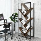 chinese cheap unique modern portable corner antique rustic bookshelf,european style home iron wood bookcase shelving with ladder