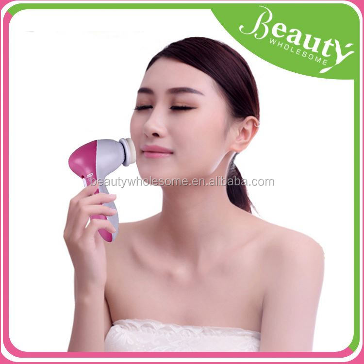 facial cleansing spin brush ,H0T064 facial brush machine , 4 in 1 cleaning brush