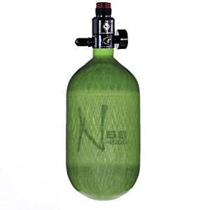 Ninja Carbon Fiber HPA Tank - 68/4500 - Translucent Lime