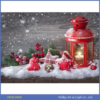 nieuwe ontwerp kerst schilderij op canvas met led verlichting