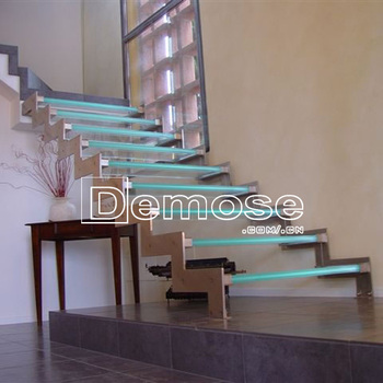 Decorative Led Lights Glass Stairs Price For Small Houses