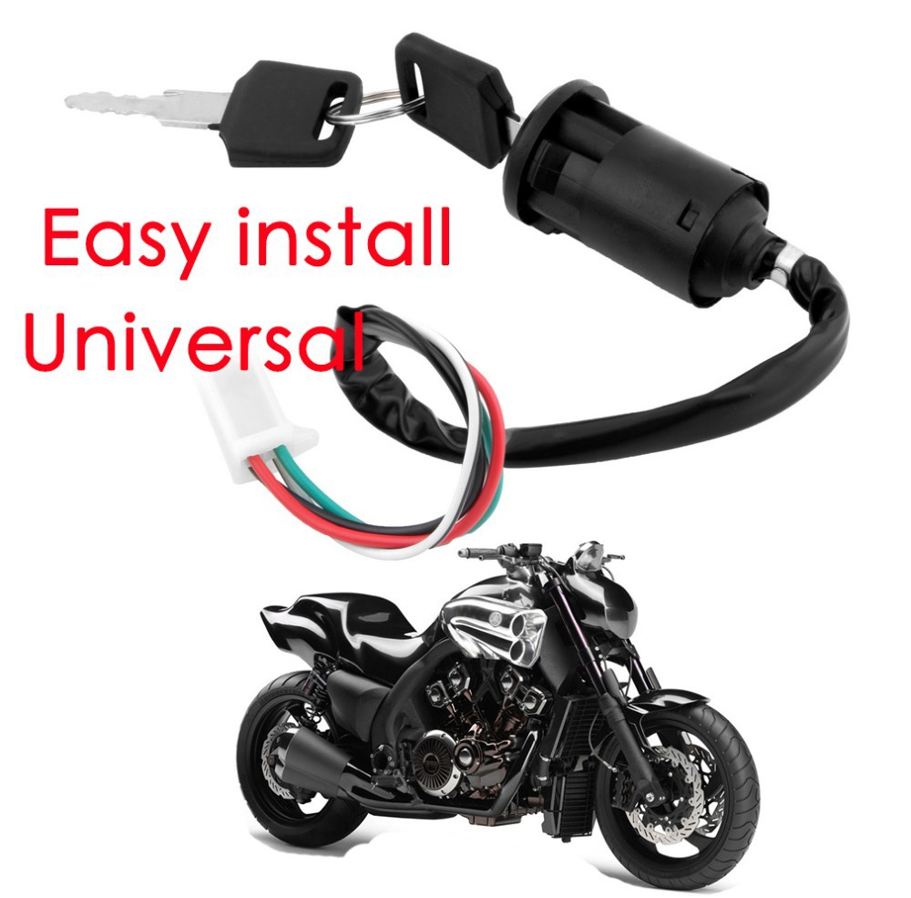 Automobiles & Motorcycles Four-wire Motorcycle Modification Set Lock Electric Door Lock 4 Wire Pin Ignition Key Switch Hot